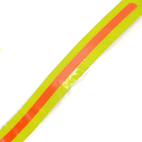 "1.75""x24"" Orange on Yellow Reflective"
