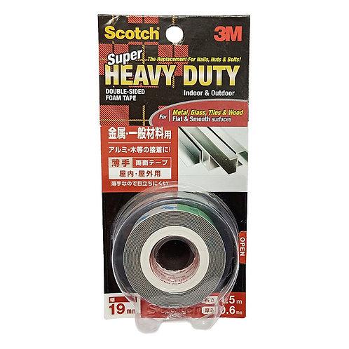 3M Scotch KKD-19 Super Heavy Duty Double-Sided Foam Tape 19mm by 1.5m