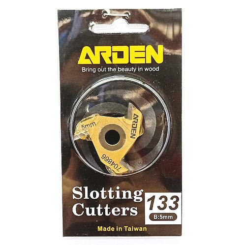 #133 5mm Arden 3 Wing Slotting Cutter