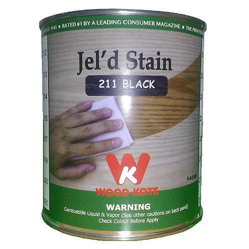 Jel'd Stain Black 211 Wood Kote 946 ml