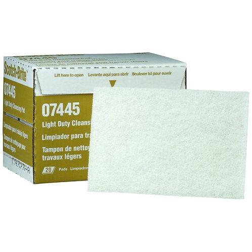 "3M Scotch-Brite™ Light Cleansing White Hand Pad 7445 6""x9"""