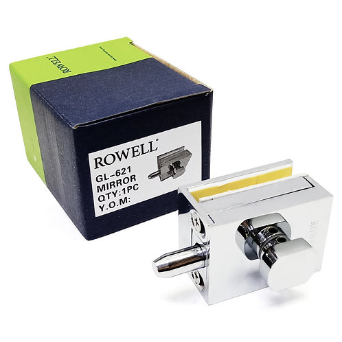 Rowell GL-621 Shower Hinge Glass Lock Zinc Alloy Wall-Glass CP