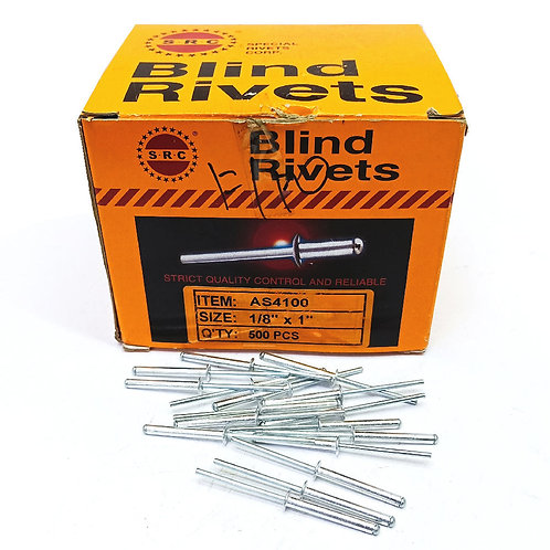 S.R.C 1/8''x1'' Alum Blind Rivets AS4100