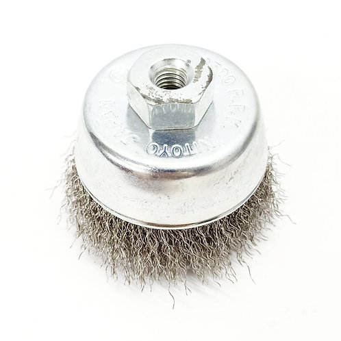 75MMXM10X1.5 Steel Wire Cup Brush SS304
