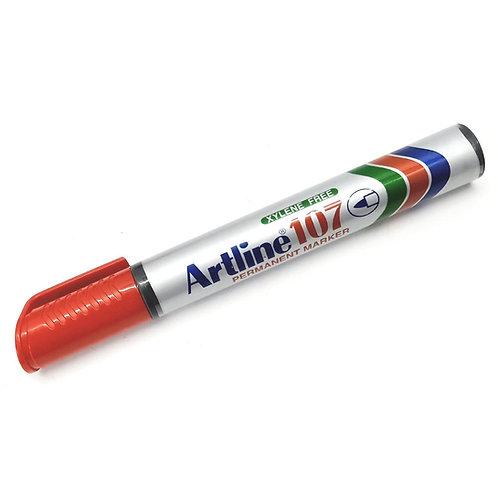 Artline EK-107 Red Permanent Marker 1.5mm
