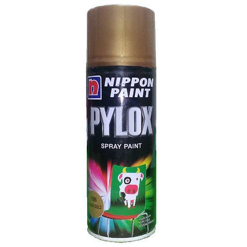 Nippon Paint Pylox Spray Paint 706 Flash Gold 400CC