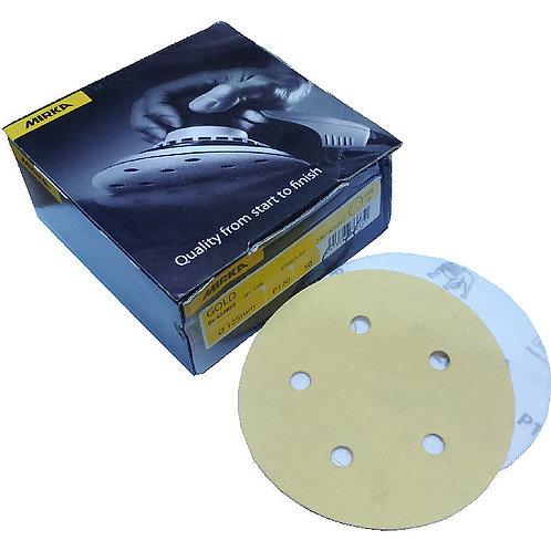 """Mirka Gold Grip 5"""" (125mm) P120 5H 50 Pieces per box"""