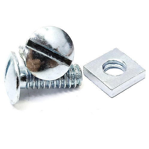 RBN616 Galv Roofing Bolt & Nut 1/4x5/8''