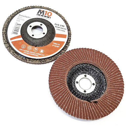 M10 Steel #240 100MMx16 Abrasive Flap Disc
