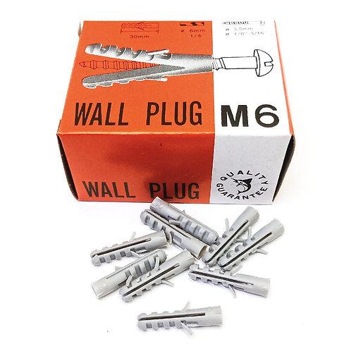 Wall Plug PVC No.S-6 100PCS (Box)