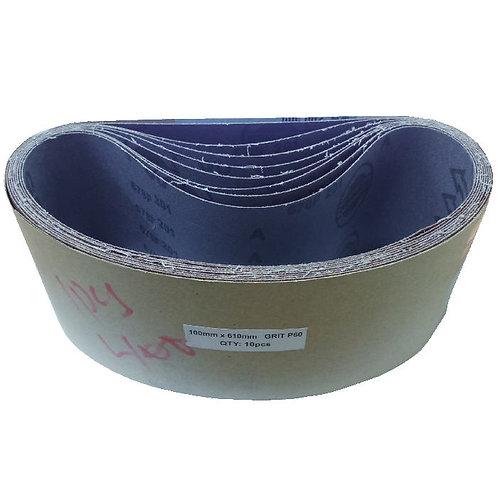 """4""""x24"""" Grit P60 Cloth Sanding Belts"""