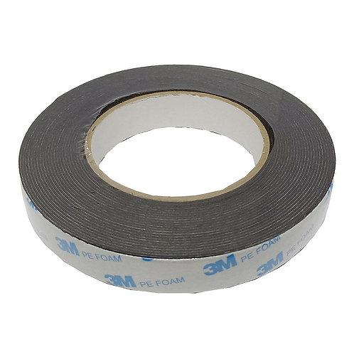 3M PE Foam Tape Black 20mm by 8m 303-1600 B-2
