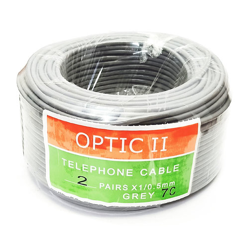 4C Telephone Cable 2 Pairs X 1/0.5mm Grey