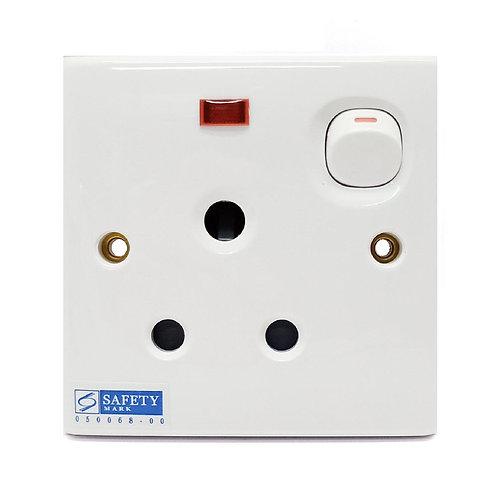 Orange BS Socket Outlet 15A SW + Neon A2615-SL