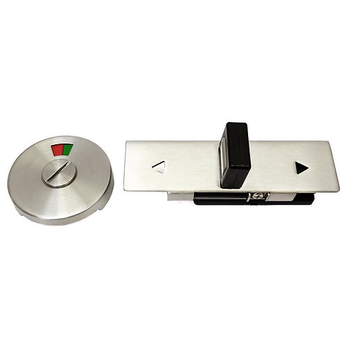 SS Toilet Latch Lockset with Occupancy Indicator XBL-SSL08