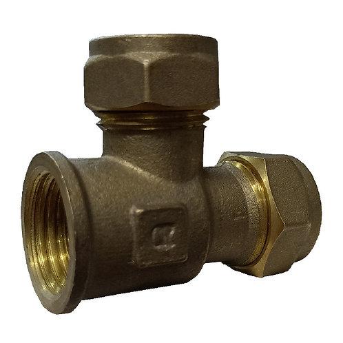5321 15x1/2''x15 Brass CxFlxC Tee