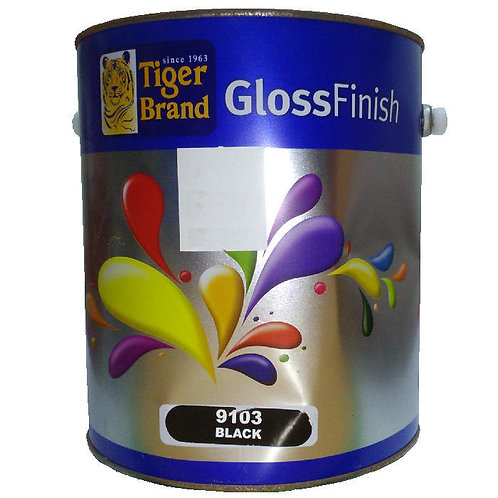 Tiger Brand GlossFinish 9103 Black 3.5L