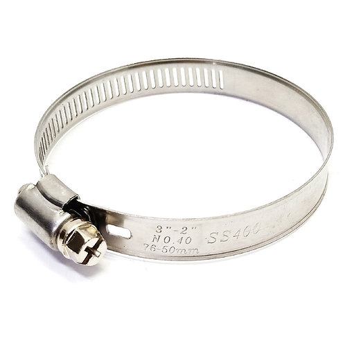 """Axis 40S Semi-SS Hose Clamps 3"""" 50-76mm"""