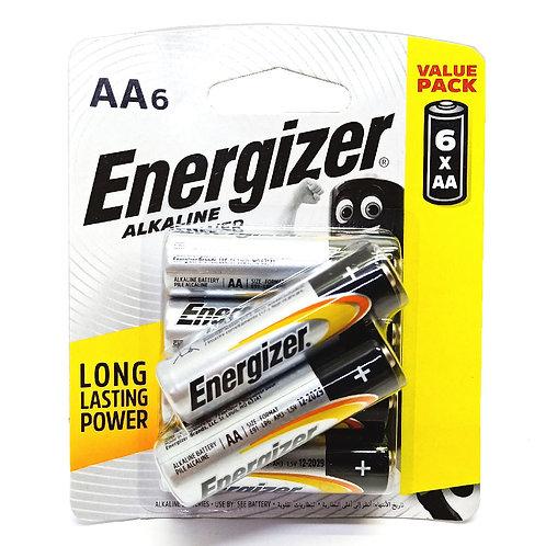 6xAA Energizer Alkaline Batteries
