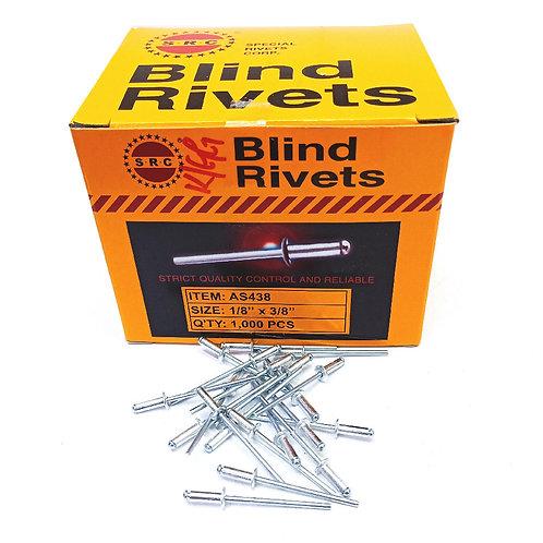 "S.R.C 1/8""x3/8"" Alum Blind Rivets AS438"