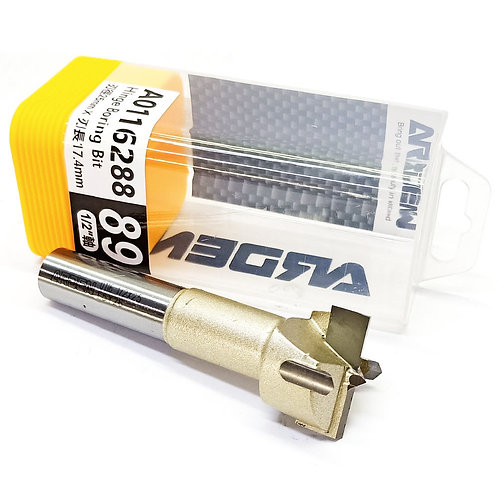 """#89 1/2""""x25mmx43/64"""" (17.4mm) Arden Hinge Boring Bit"""