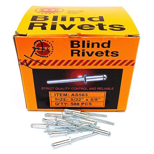 S.R.C 5/32''x5/8'' Alum Blind Rivets AS563