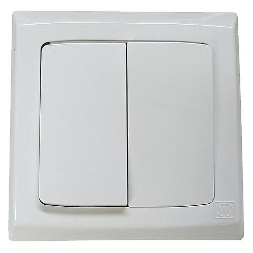 MK S4782W1 WHI 2G1W SP Switch Large Rocker 10Ax2