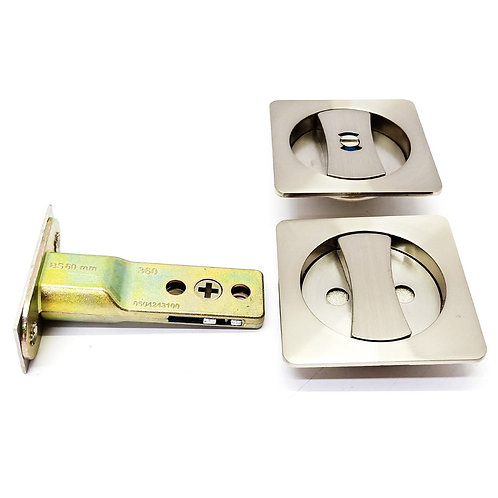 Nikawa SD87SN-BK Sliding Door Lock Satin Nickel Backset 60mm