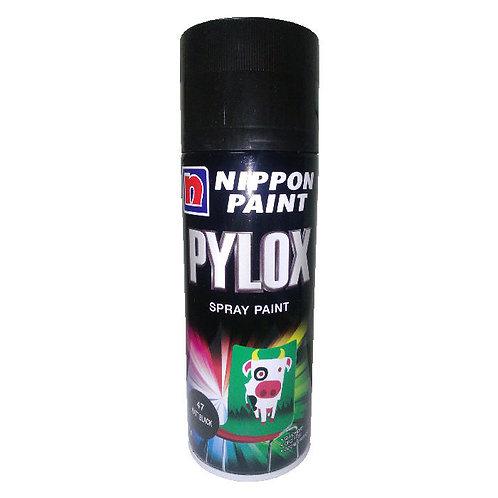 Nippon Paint Pylox Spray Paint 47 Matt Black 400CC