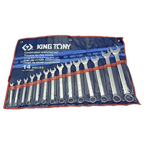 """King Tony 1214SR 14PCS Combination Wrench Set 5/16""""-1-1/4"""""""