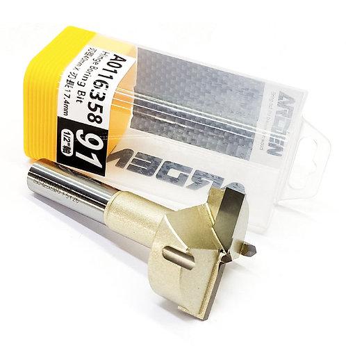 """#91 1/2""""x40mmx43/64"""" (17.4mm) Arden Hinge Boring Bit"""