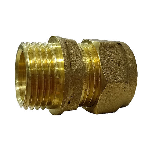 5003 15mm 1/2'' Brass CxMI Straight Coupling