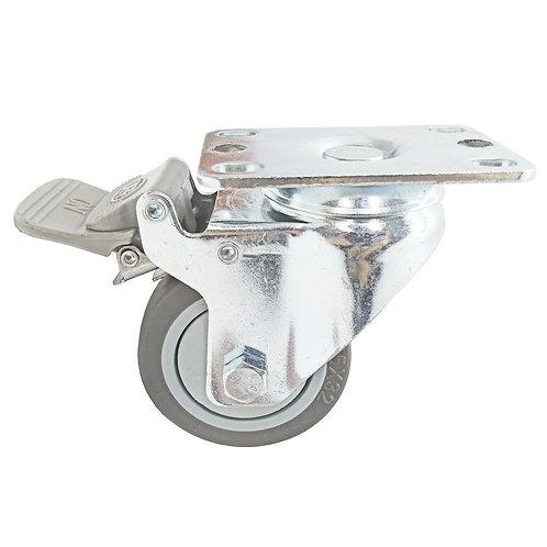 """03"""" Swivel Castor P/D-Lock 92x65 WH.TPR SB/TG BB 75Kg"""