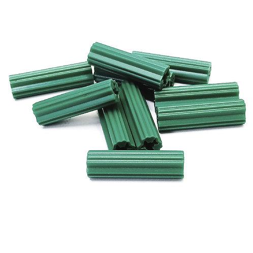 "Wall Plug PVC 7MMx1"" Green No.12"