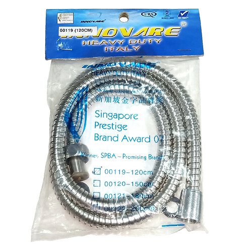 00119 Double Locked Hose 120cm SS