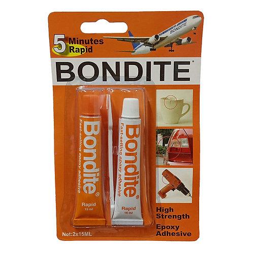 Bondite 5 Minutes Rapid Epoxy Adhesive 2x15ml