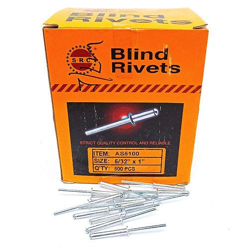 S.R.C 5/32''x1'' Alum Blind Rivets AS5100