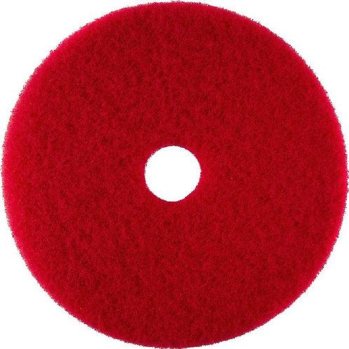 "3M 5100 Red Buffer Pad 16"" for floor polishing"