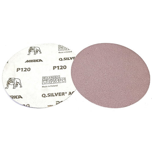 "Mirka Q.Silver Ace 5"" (125mm) PSA P120 100PCS (Box)"