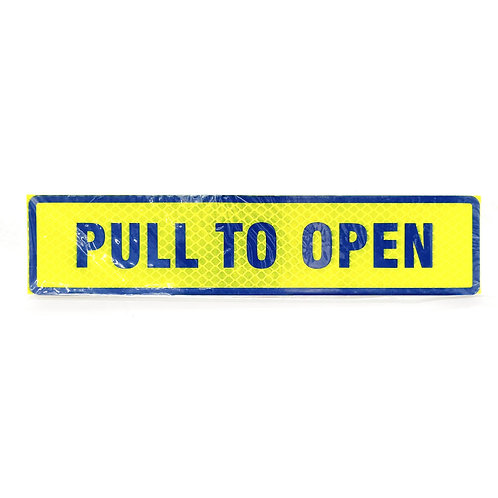 """2""""x9"""" Pull To Open Label (Blue Wording)"""
