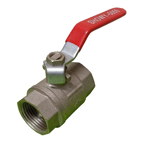 5055 Red Long Handle FF Ball Valve 1'' STD