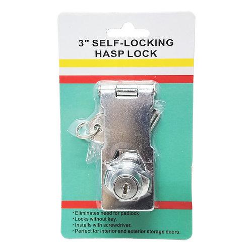 "3"" Hasp & Staples with Lock (Self-Locking Hasp Lock)"