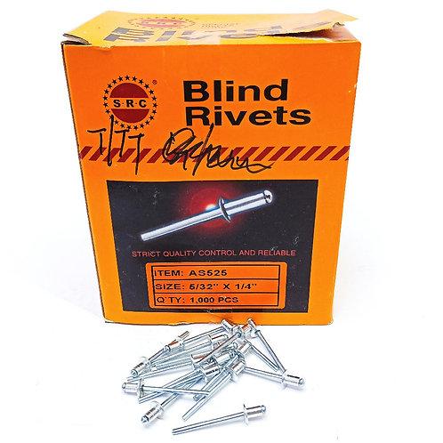 "S.R.C 5/32""x1/4"" Alum Blind Rivets AS525"