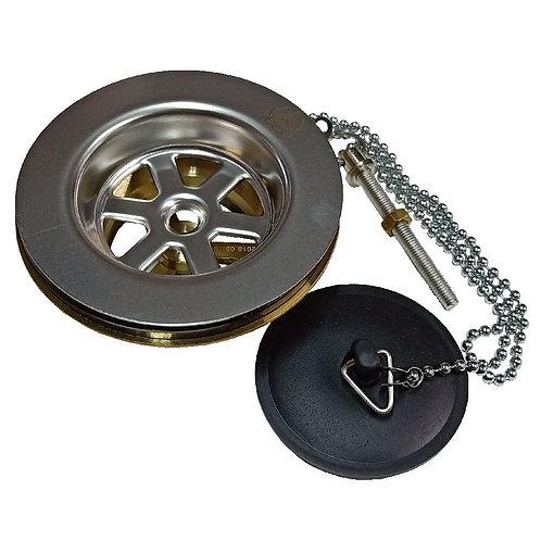 8172-200 MILAN 1-1/2'' Brass Waste with Plug & Chain
