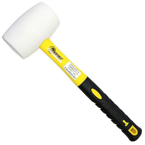Orex White 16oz Rubber Mallet 55mm Diameter Fibre Handle