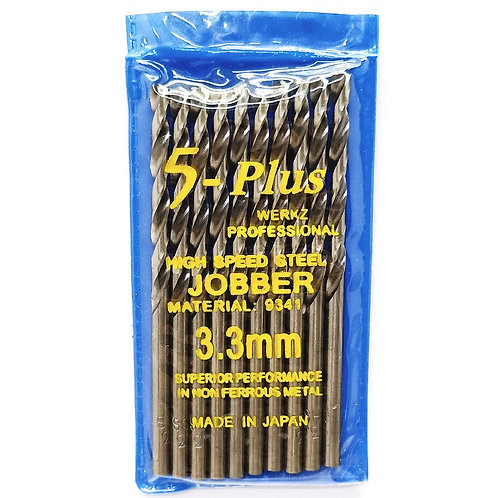 5-Plus Jobber 3.3mm Drill Bit HSS