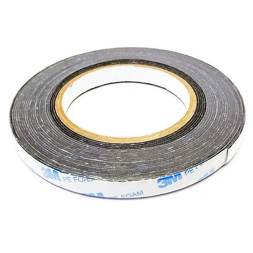 3M PE Foam Tape Black 12mmX8m 303-1600/B-1