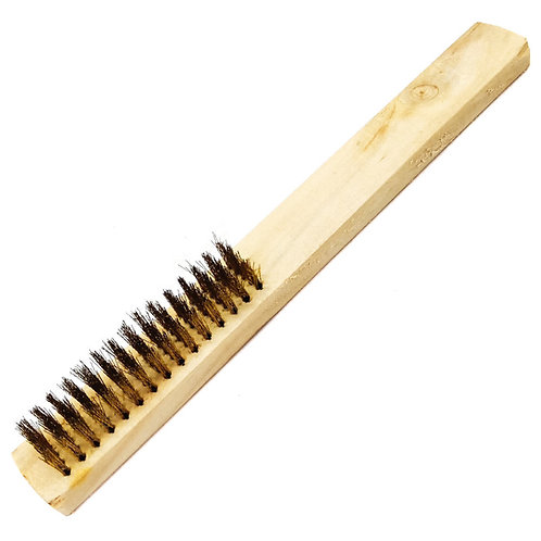 Copper Wire Brush 5 Rows (Wooden Handle) 15330