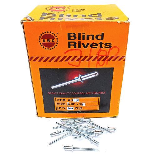 "S.R.C 5/32""x5/16"" Alum Blind Rivets AS531"