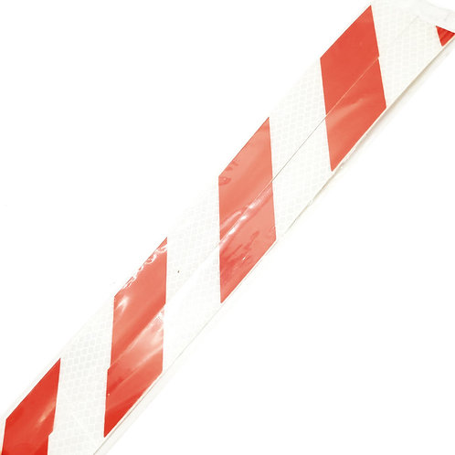 """1""""x36"""" Red on White Reflective 2PCS"""